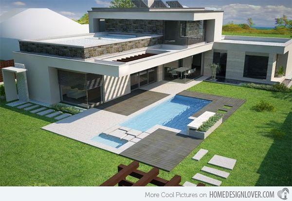 Modern Concrete Pool Decks