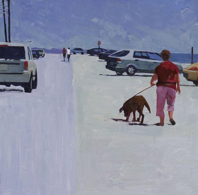 Dora Atwater Millikin - Walking the Dog