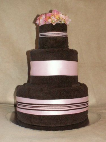 towel cake: easy to make, great centerpiece and gift all rolled into one