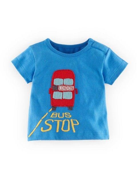 Mini Boden boy's baby cotton applique top t-shirt  new shirt tee applique logo T-Shirts & Tops T-Shirts, Tops & Shirts