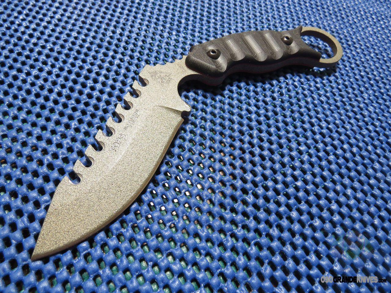 TOPS Knives 10/27 Karambit Knife (3.5 Inch Fixed 1095HC Blade) Kydex Sheath ELPNX1   OsoGrandeKnives