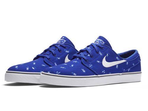 Nike SB Zoom Stefan Janoski Canvas PRM Skate Shoes Mens 12 Racer Blue  705190 410  Nike  SkateShoes 2dcbb0439b71
