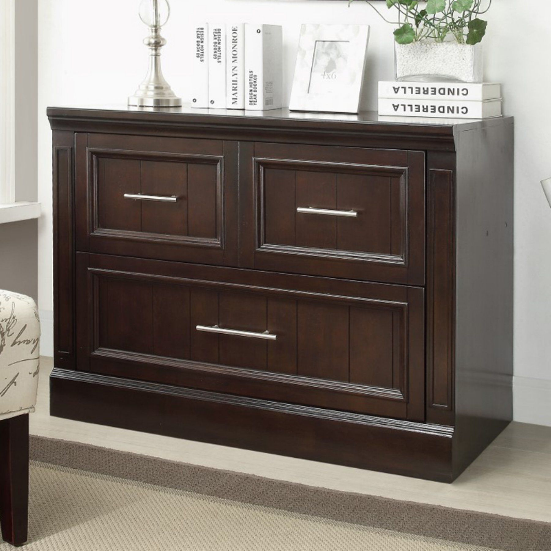 Parker House Stanford Library 2 Drawer Lateral File Cabinet STA