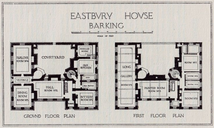 Eastbury manor floor plan english french manor house for Old english floor