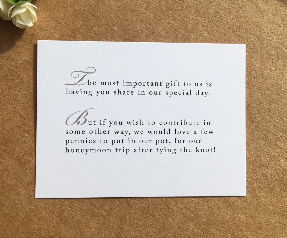 Ways To Save Money On Wedding Invitations: Wedding Poem Card Inserts Wedding Invitations Money Cash