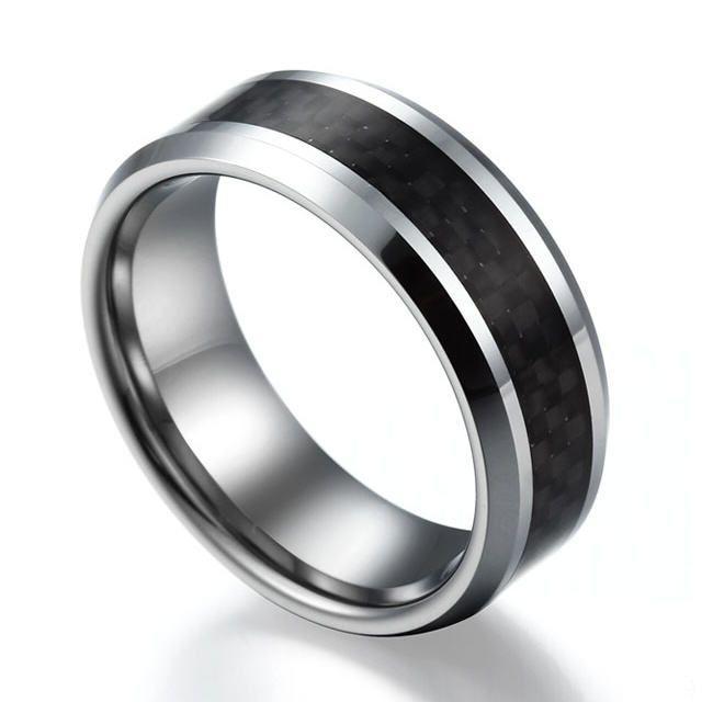 Carbon Wedding Rings For Him Mens Wedding Rings Carbon Wedding Ring Rings For Men
