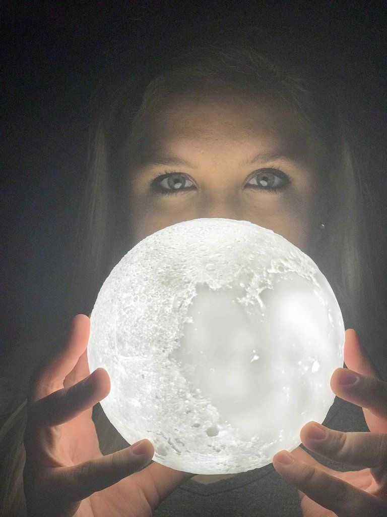 3d Printed Moon Lamp Rechargeable Usb Light 2 Color Change Touch Lamp Romantic Lighting Bedroom Nurser Touch Lamp Romantic Bedroom Lighting Nursery Night Light