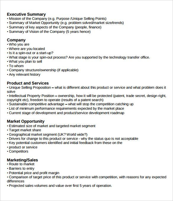 Executive Summary Example Executive Summary Templates - business profile format in word