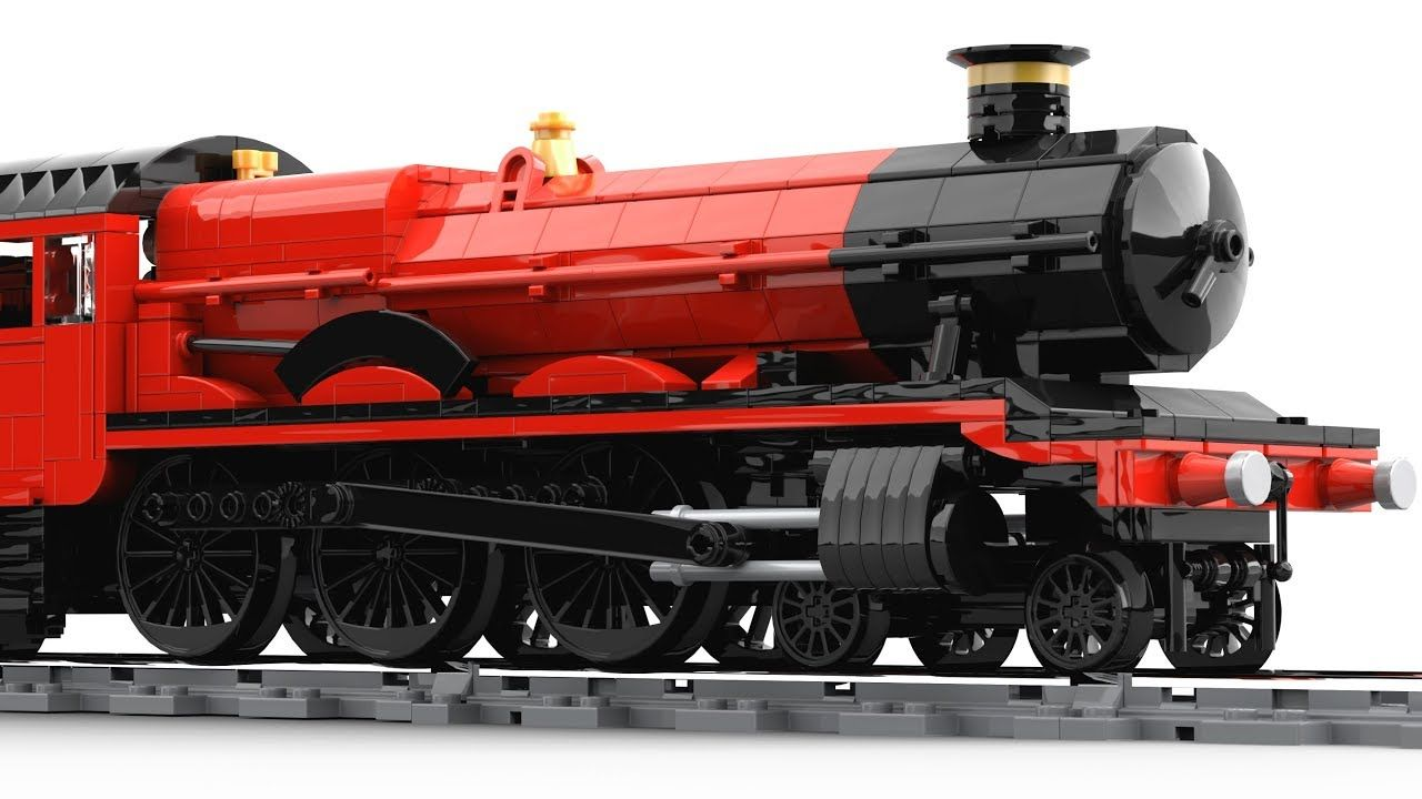 Lego Hogwarts Express Motorized 2018 Moc Rebuild Lego Hogwarts Lego Trains Lego