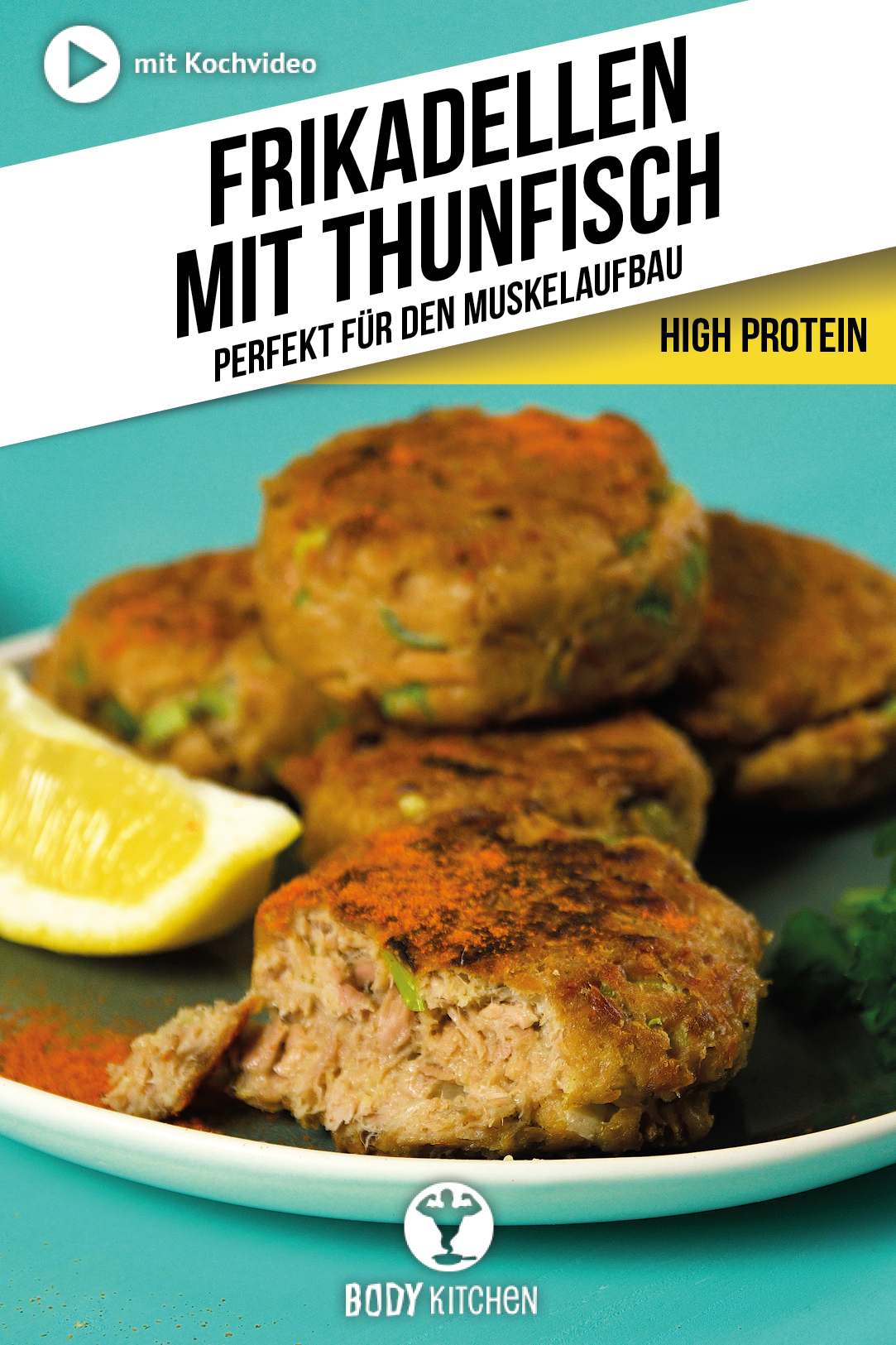 Tuna meatballs - fitness recipe from BODY KITCHEN -  Delicious fish cakes with tuna. #meatballs #fis...