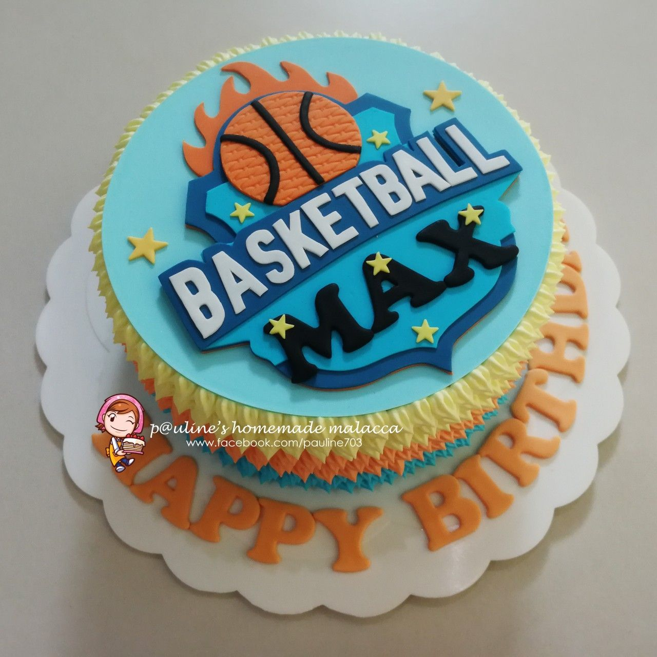 Basketball Design Fresh Cream Cake Fresh Cream Cake Desserts