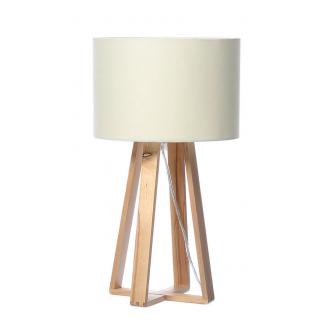 Tischlampe Holz Weiß 40cm hoch Skandinavisch Tischleuchte