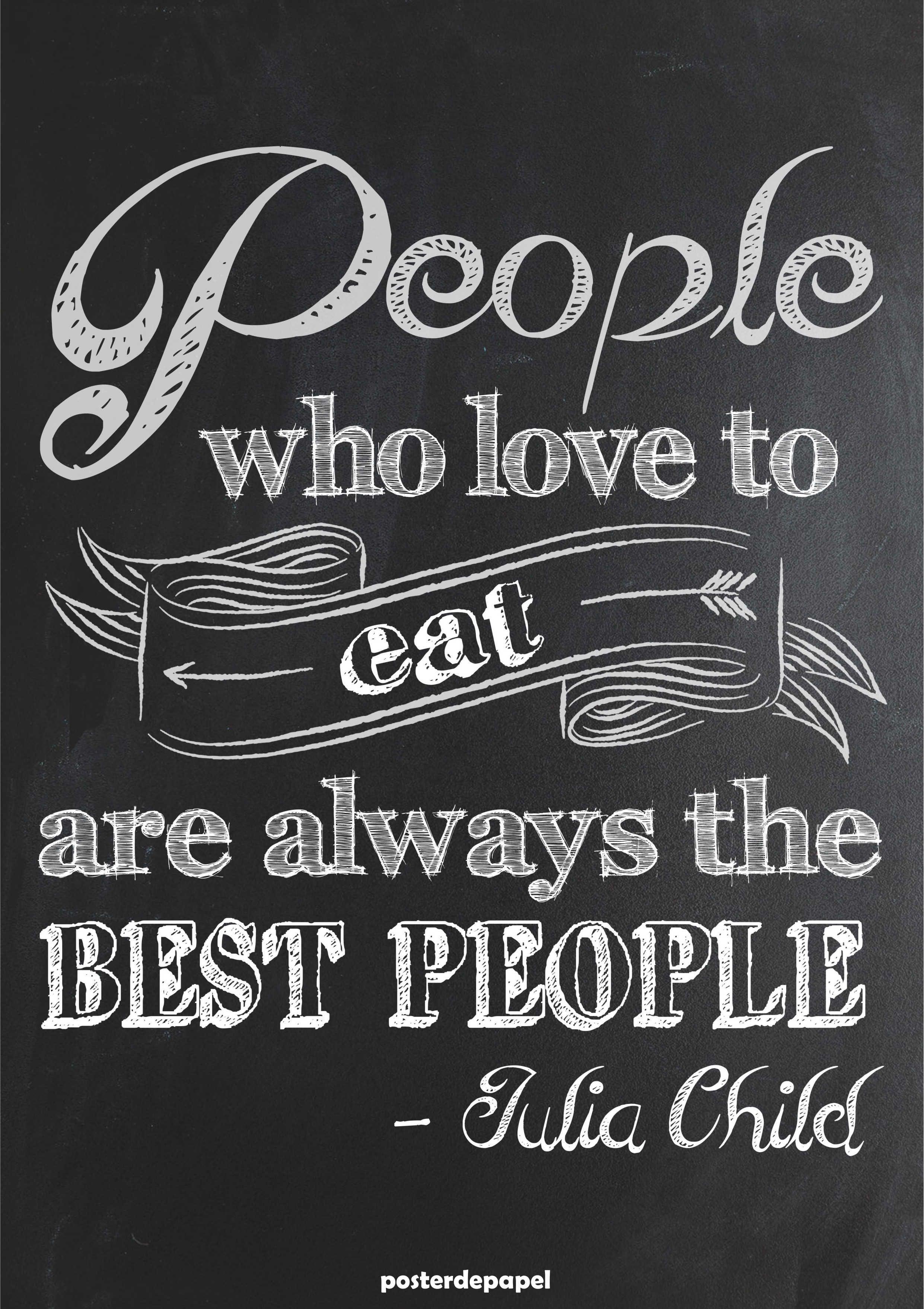 Poster Julia Child Quadro Jpg 2482 3517 Posters E Frases  ~ Frases De Limpeza Na Cozinha