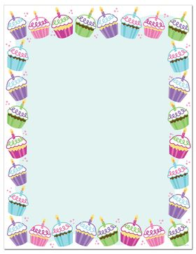 Cupcakes Borders and Covers Pinterest Stationary ...
