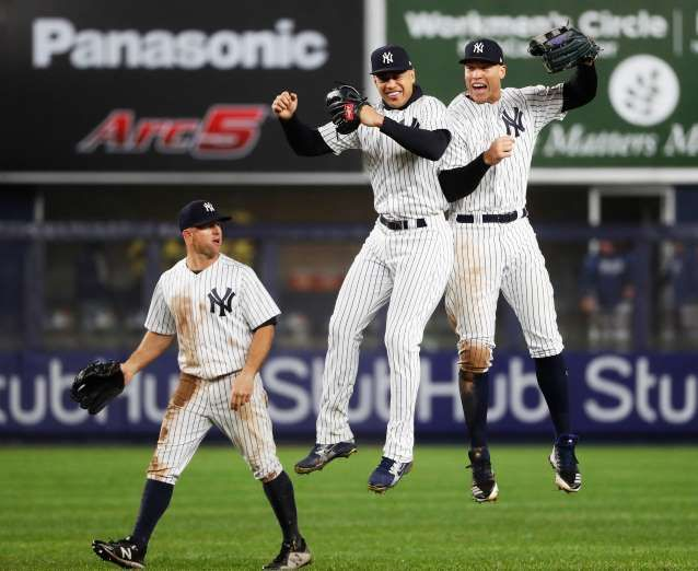 27ccc05ea 2018 MLB Season - WHO S LOOKIN  HAPPY  The Yankees  Brett Gardner ...