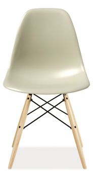 Eames Side Chair with Wood Dowel Legs.