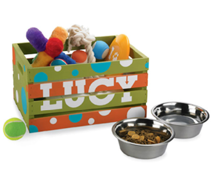 Create A Personalized Toy Box For Your Pooch Homejelly Dog Toy Box Diy Dog Toys Diy Dog Stuff