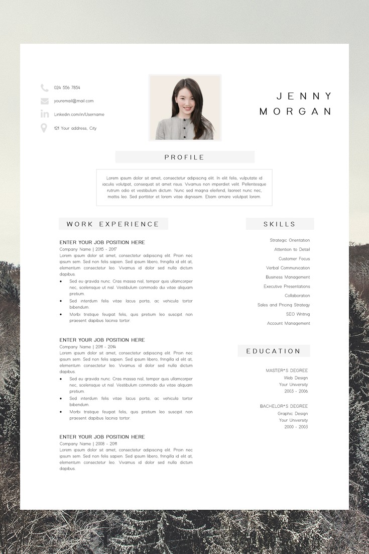 simple cv template word - resume with photo template - resume minimalist