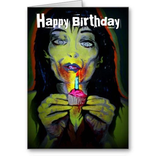 Zombie Birthday Girl Birthday Card Zazzle Com Zombie Birthday Girl Birthday Cards Birthday Cards