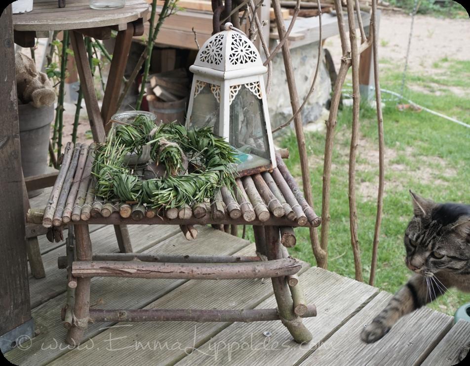 Weidenholz Gartenmöbel selbst gemacht aus Weidenästen {DIY ...