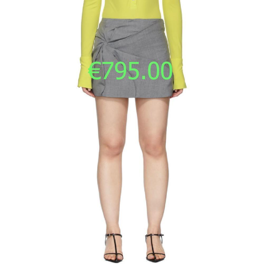 Coperni Mini Jupe En Laine Grise Vortex Fashion Skirts Short