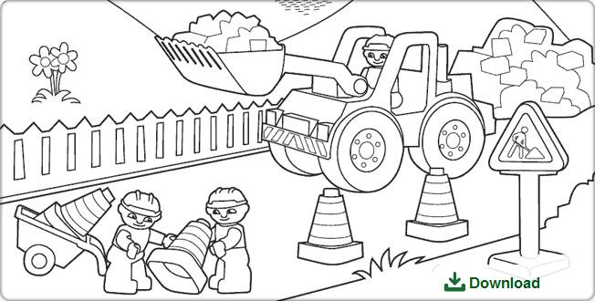 Kleurplaten Politie Lego.Lego Duplo Bouwplaats Kleurplaat Pdf Lego Duplo Lego En