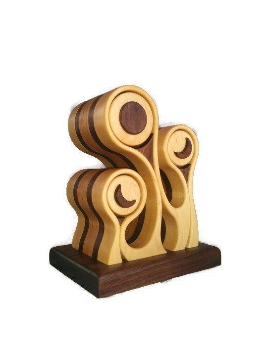 Bandsaw box, jewelry box, wood sculpture, black walnut, wood art, moon, home…