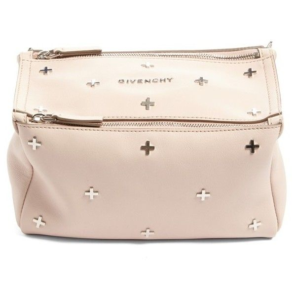 dfa389471e2 Women s Givenchy Mini Pandora Studded Leather Crossbody Bag (€1.480) ❤  liked on Polyvore featuring bags, handbags, shoulder bags, nude pink,  crossbody ...