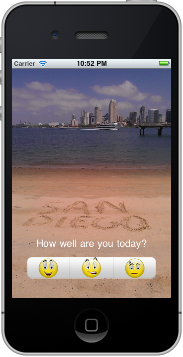 Good Days app Our mobile app identifies potential