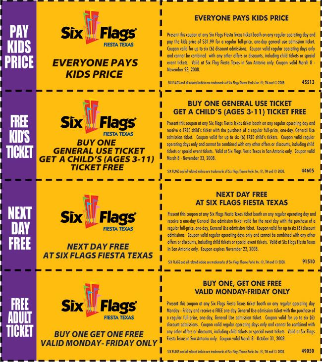 graphic relating to Six Flags Printable Coupons referred to as free of charge 6 Flags coupon codes in direction of print for July Printable Coupon