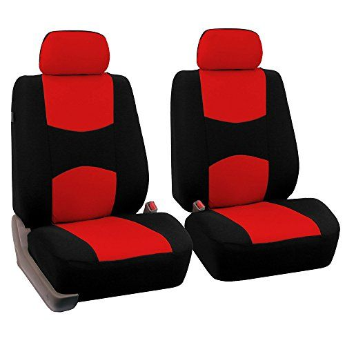 Fh Group Universal Fit Flat Cloth Pair Bucket Seat Cover Red Black Fh Fb050102 Fit Most Car Truck Su Bucket Seat Covers Seat Covers Pink Car Seat Covers
