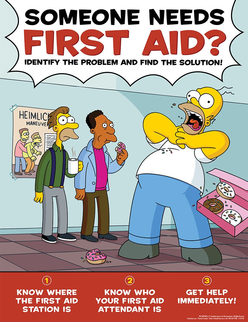 Simpson's Safety Posters Safety posters, Health, safety
