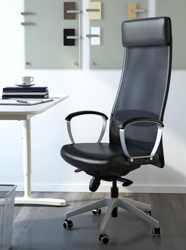 Silla giratoria Ikea Markus | Sillas de oficina, Sillas