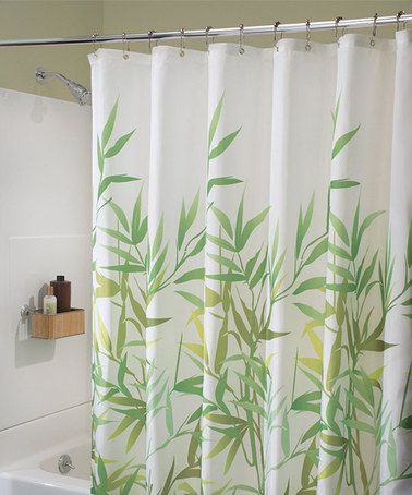Kids Bathroom 72 x 72 Inches Green and White Guest Bathroom Modern Mildew-Resistant Bath Liner for Master Bathroom InterDesign Leaves Fabric Shower Curtain