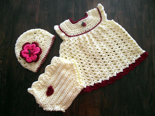 FREE PATTERN..Craft Passions   crochet baby,toddler dress sets ...