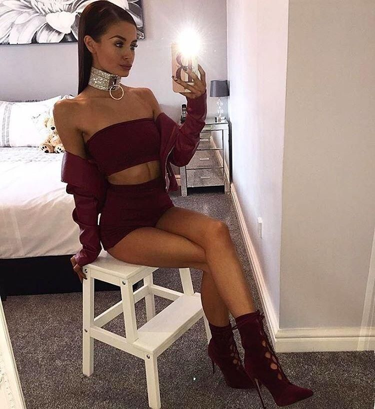 1e707ac2c3f 2018 Women Sexy Two Piece Sets Tracksuits Glitter Strapless Crop Top and  Shorts Set Fashion Jumpsuit Sparkly Party Clubwear Outfits Femme