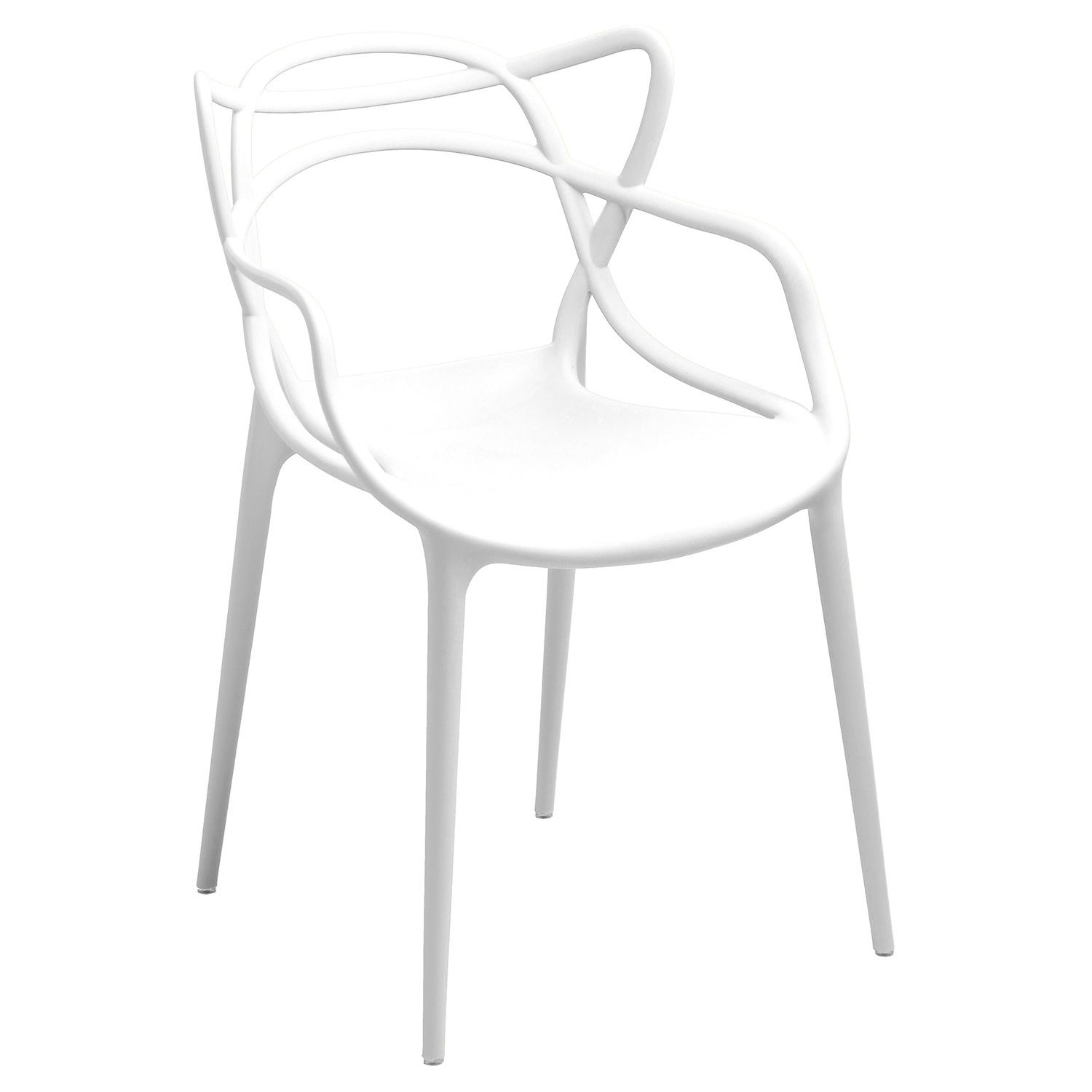 Gabriel White Stackable Accent Chair Set of 2
