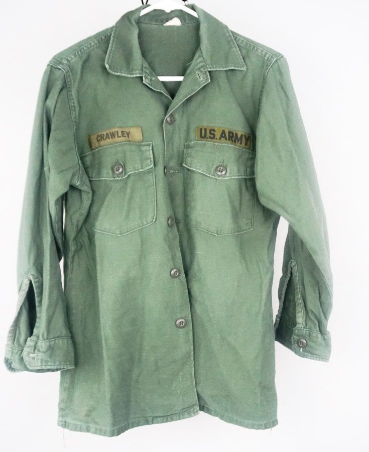 a4f404cadd2b2 Vietnam War US Army Uniform Jungle Fatigue Shirt 1970s Vintage ...