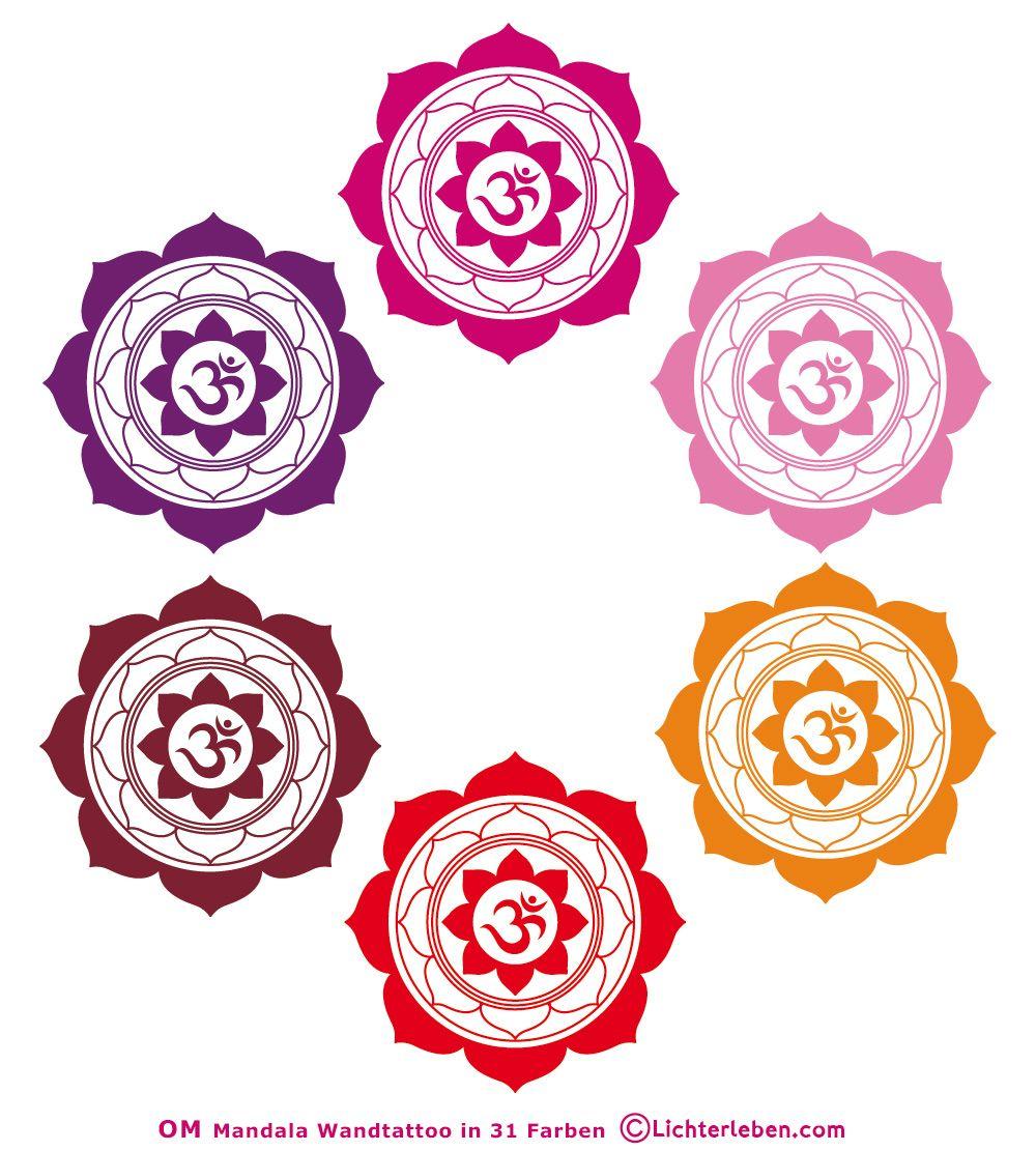 OM Mandala Wandtattoo- Wandaufkleber #yogastudio
