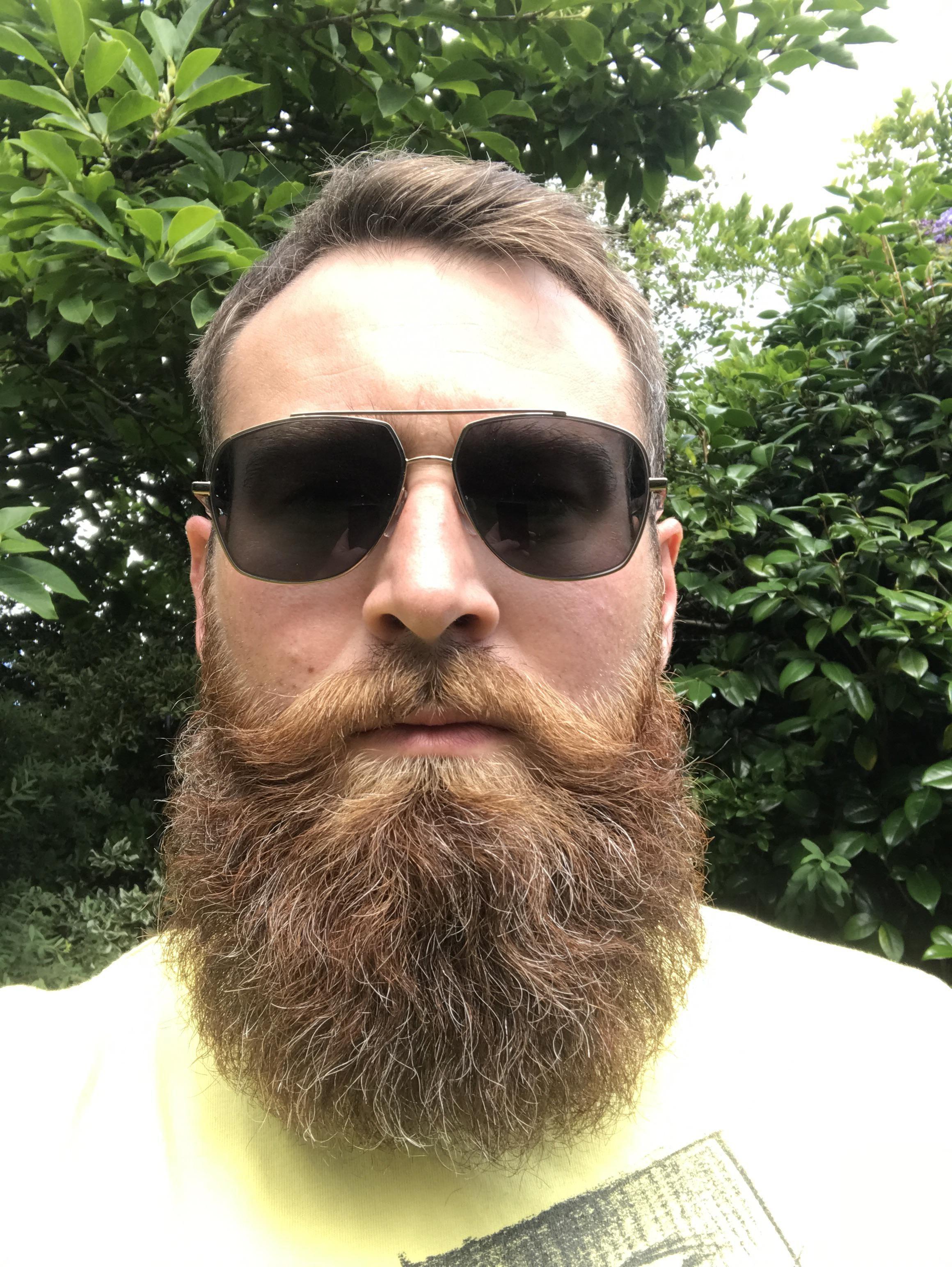 Having a good beard day beard best square sunglasses men