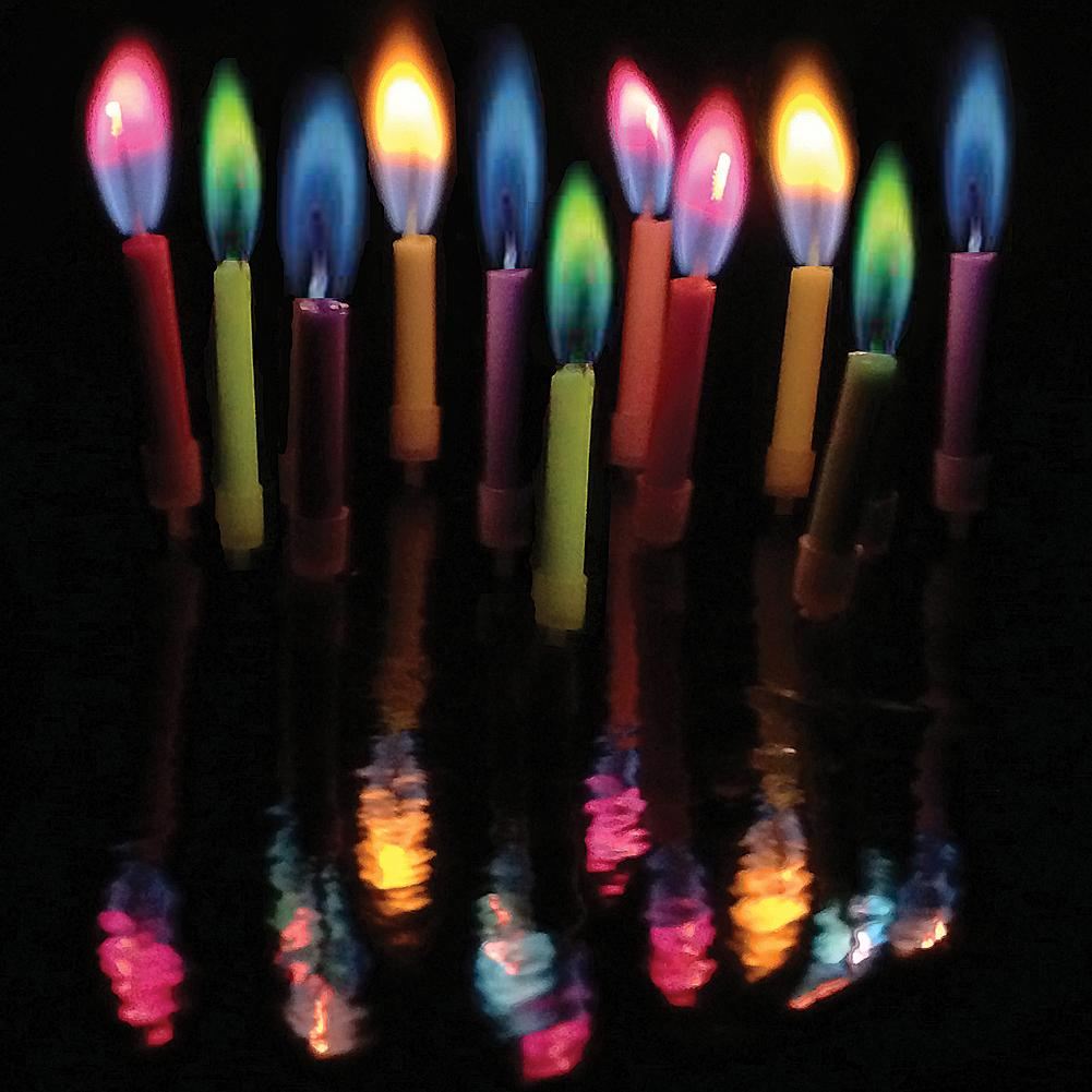 Amazing Colorflame Multicolor Happy Birthday Candles And Holders Set Of 36