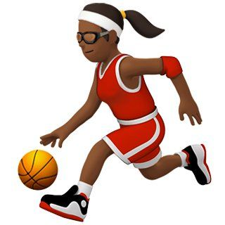 Woman Playing Basketball Emoji Basketball Emoji Emoji Women