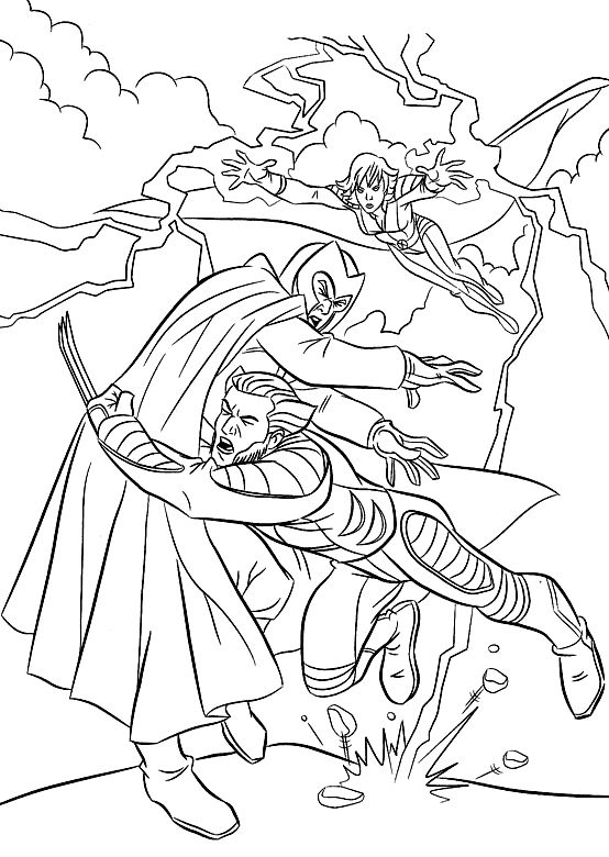 Fighting X men Wolverine Vs Magneto Coloring Pages X men
