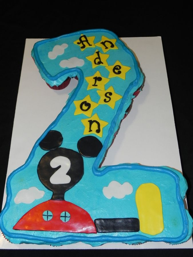 Mickey Mouse Pull Apart Cupcake Cake Mickey Mouse