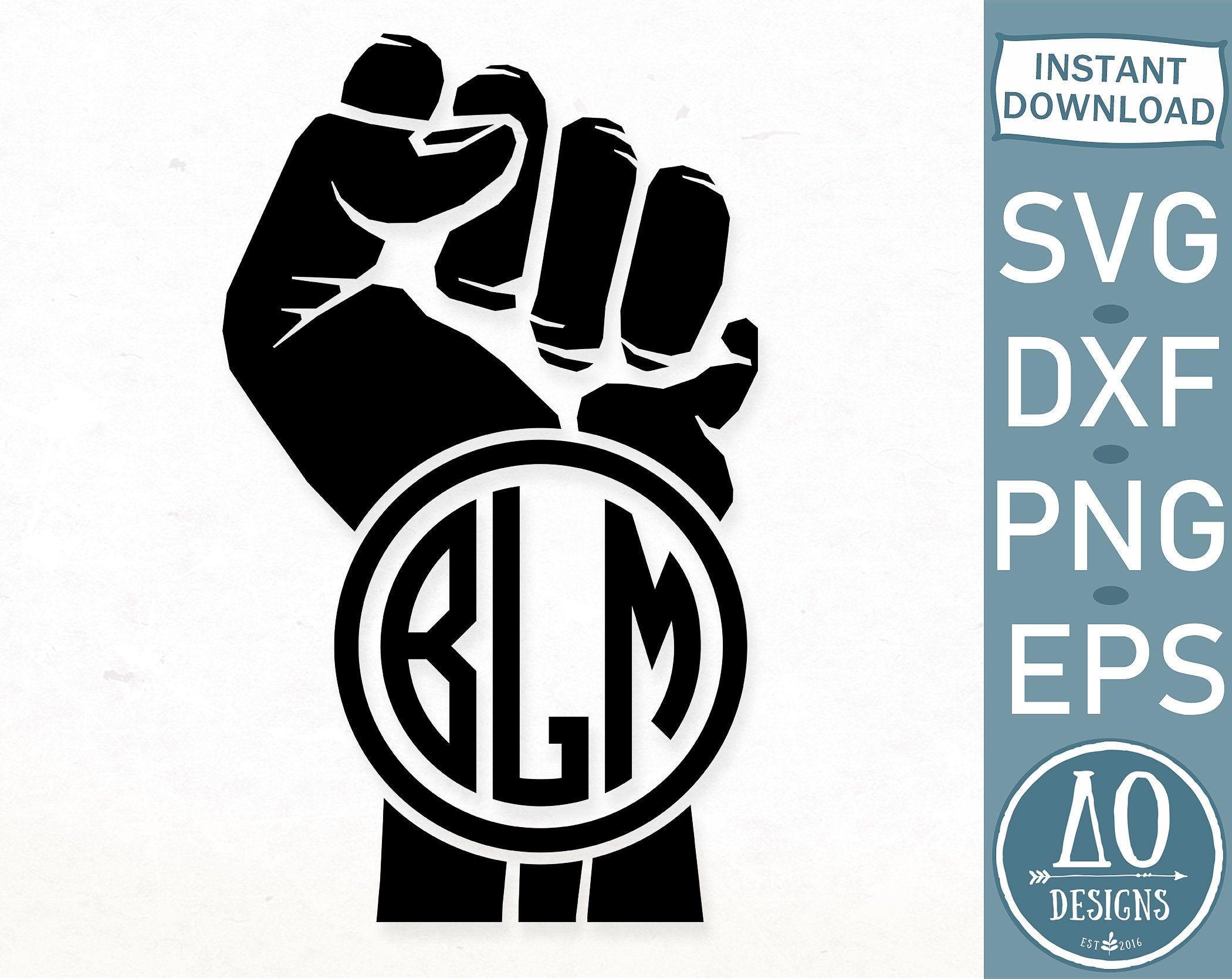Black Lives Matter monogram SVG, BLM monogram svg, Black