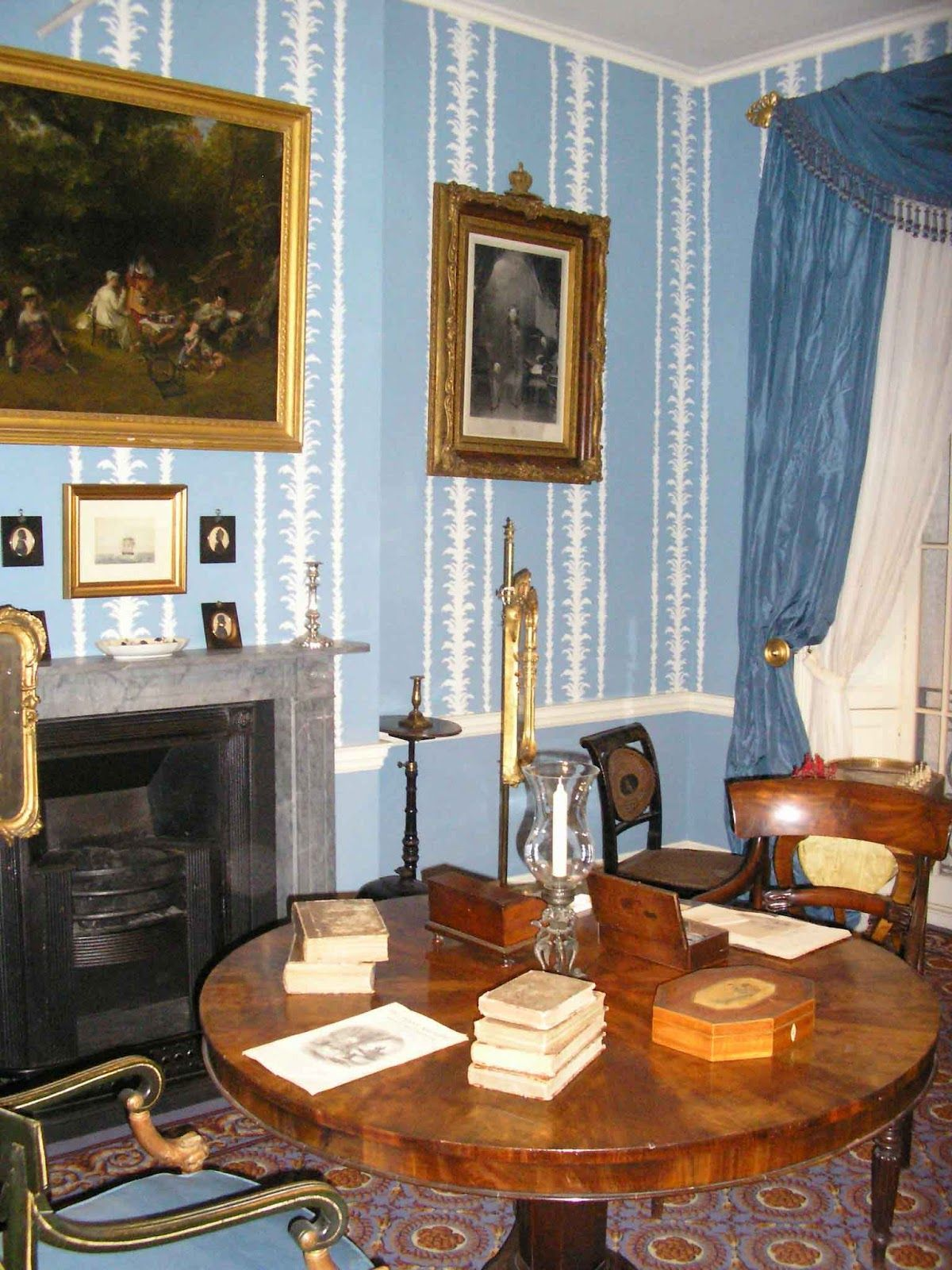 Inside House Drawing: Regency House, Regency Furniture