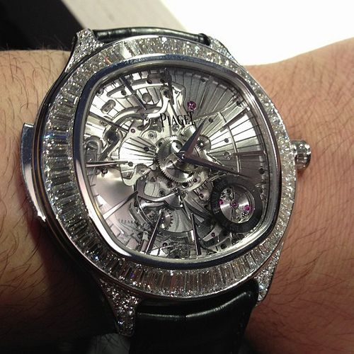 Piaget Emperador Cushion ultra thin minute repeater tourbillon with diamonds