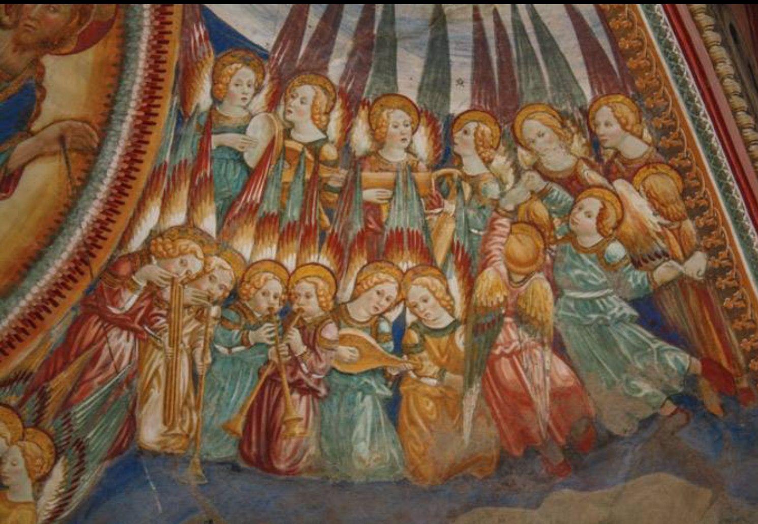 AMATRICE Angeli musicanti nel Santuario della Madonna della Filetta, protettrice di Amatrice dopo il 1472.