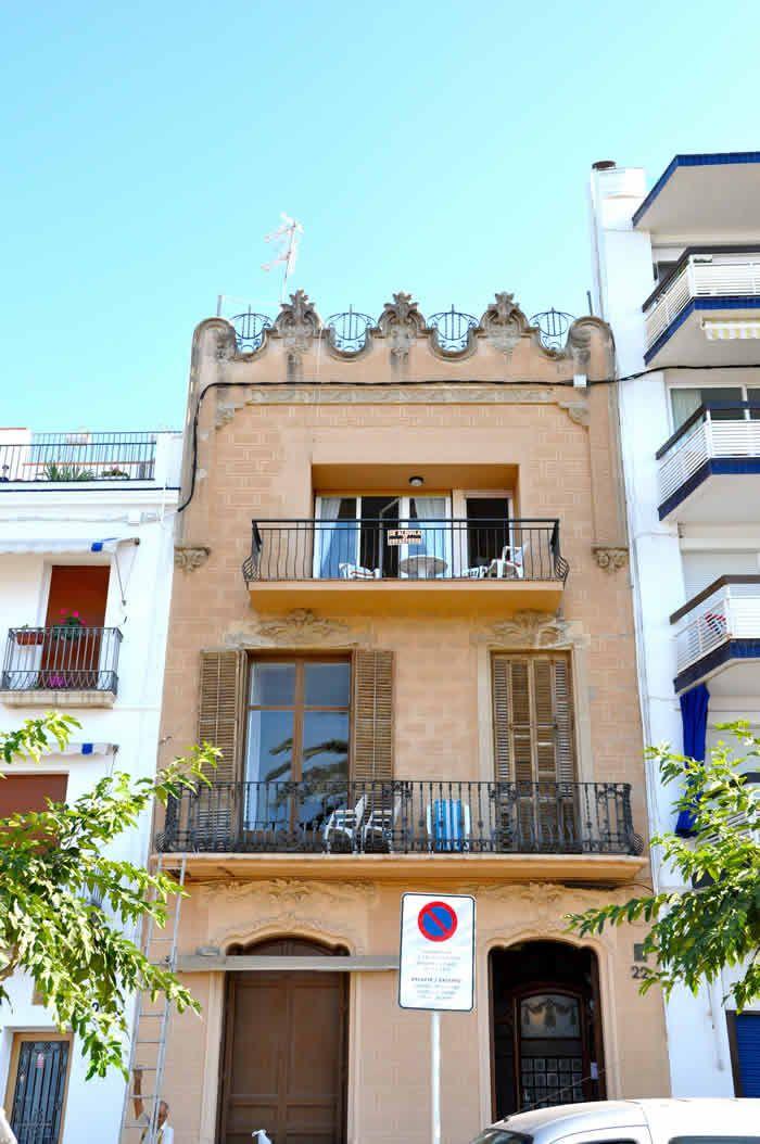 Casa Marina Planas, en el Paseo de la Ribera de Sitges