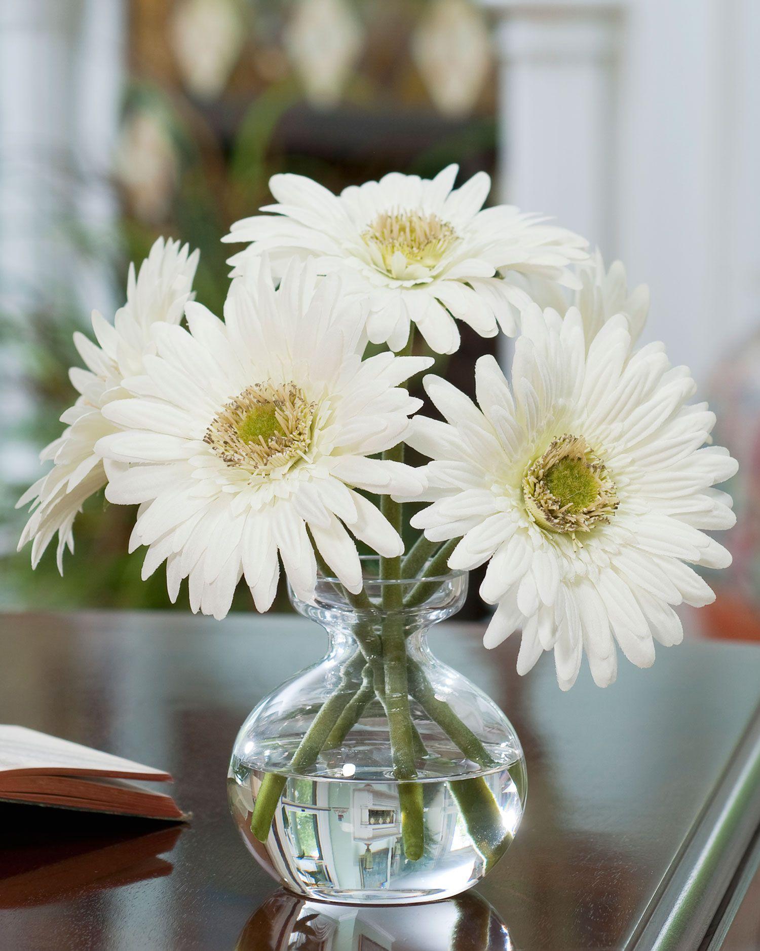 White gerber daisy silk flower arrangement is the perfect small white gerber daisy silk flower arrangement is the perfect small touch for a neutral room reviewsmspy
